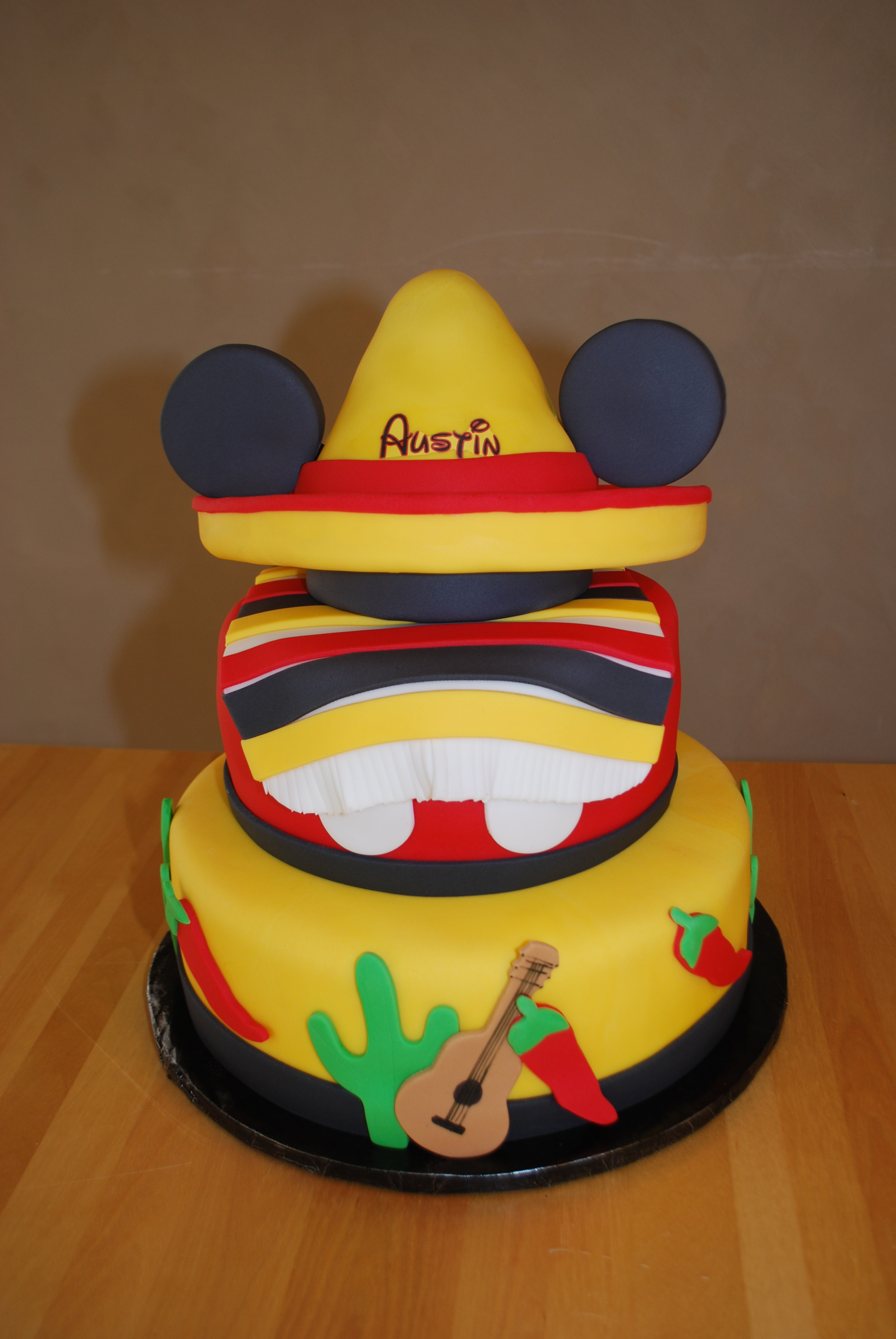 First Birthday Cinco De Mayo Mickey Mouse Cake