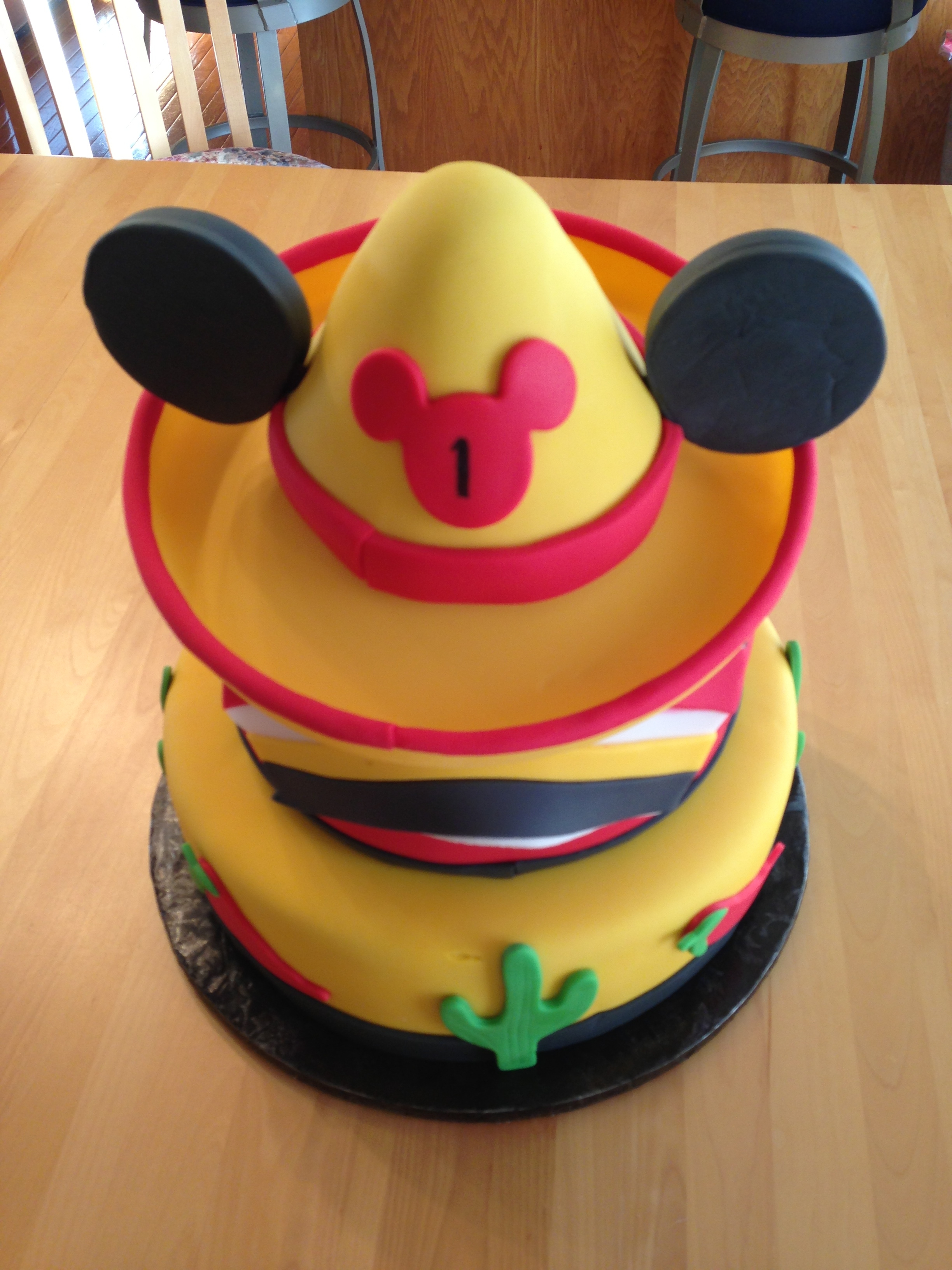 First Birthday Cinco De Mayo Mickey Mouse Cake