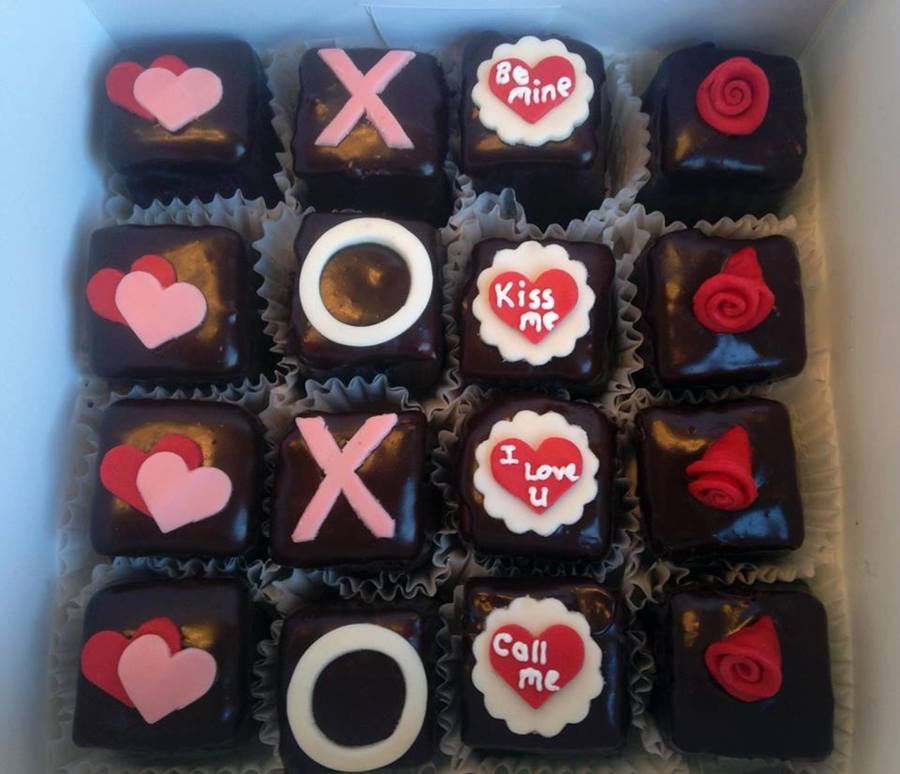 Valentine's Petit Fours on Cake Central