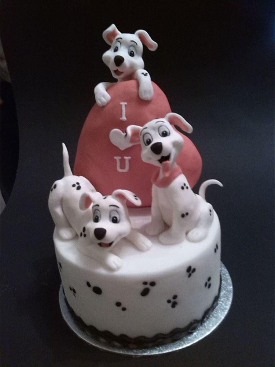 how to make a dalmation cake