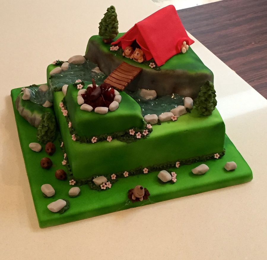 Camping Birthday Cake Cakecentral Com