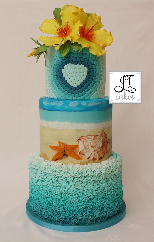 Summer Wedding Cake Cakecentralcom