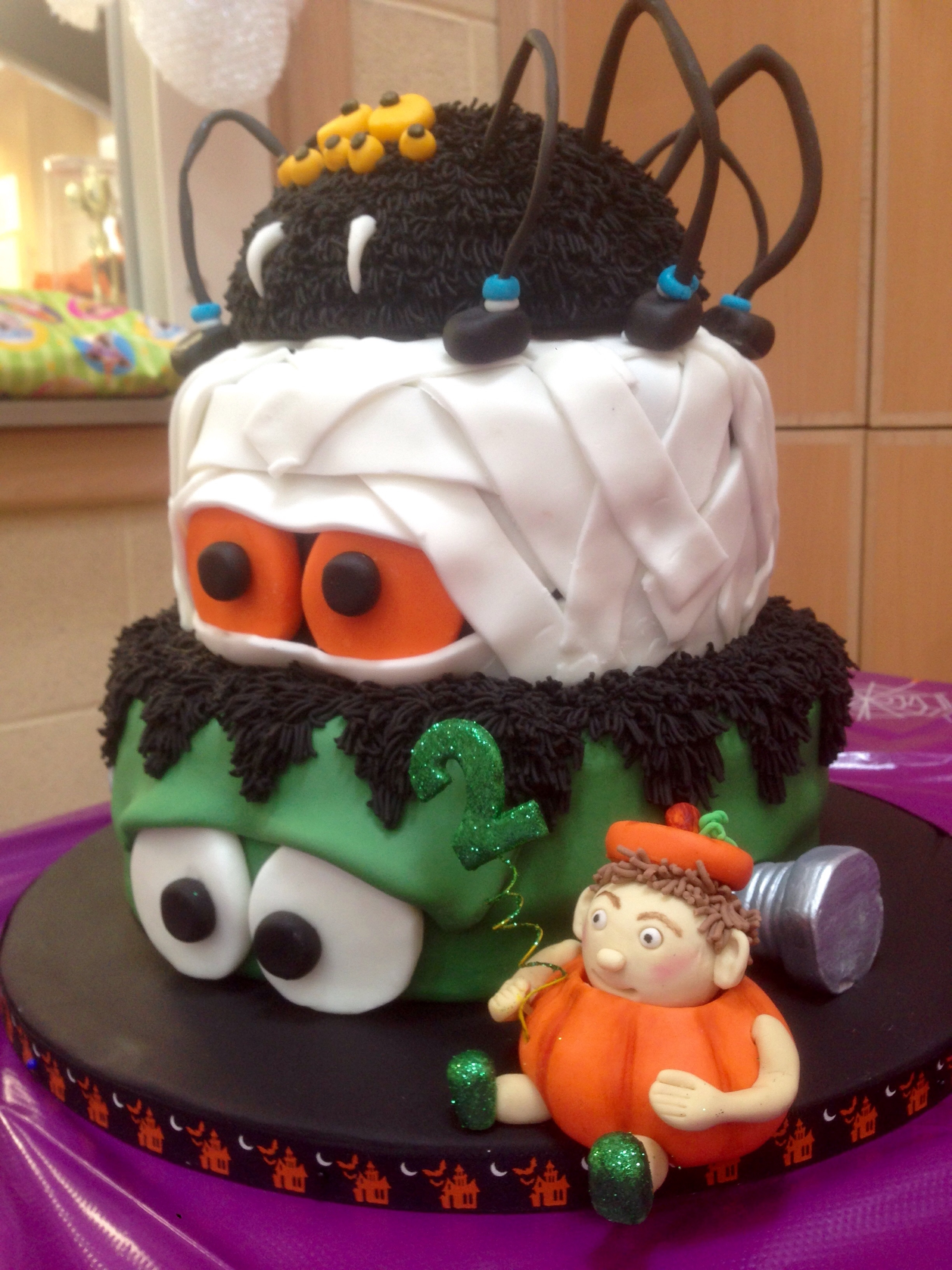 Halloween Themed Birthday Cake For My Nephews 2Nd Birthday The