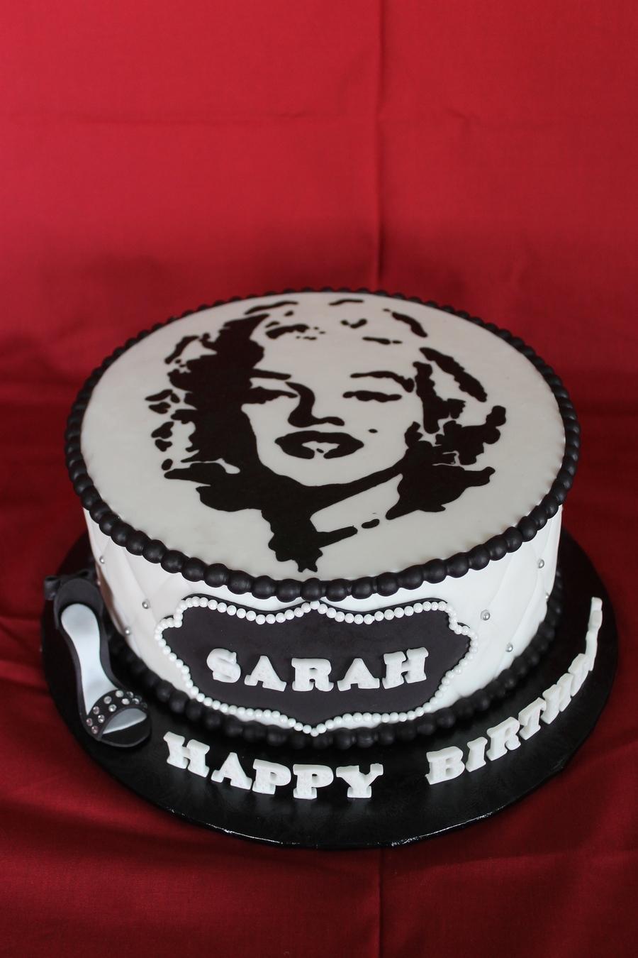 Marilyn Monroe Themed Birthday Cake Cakecentral