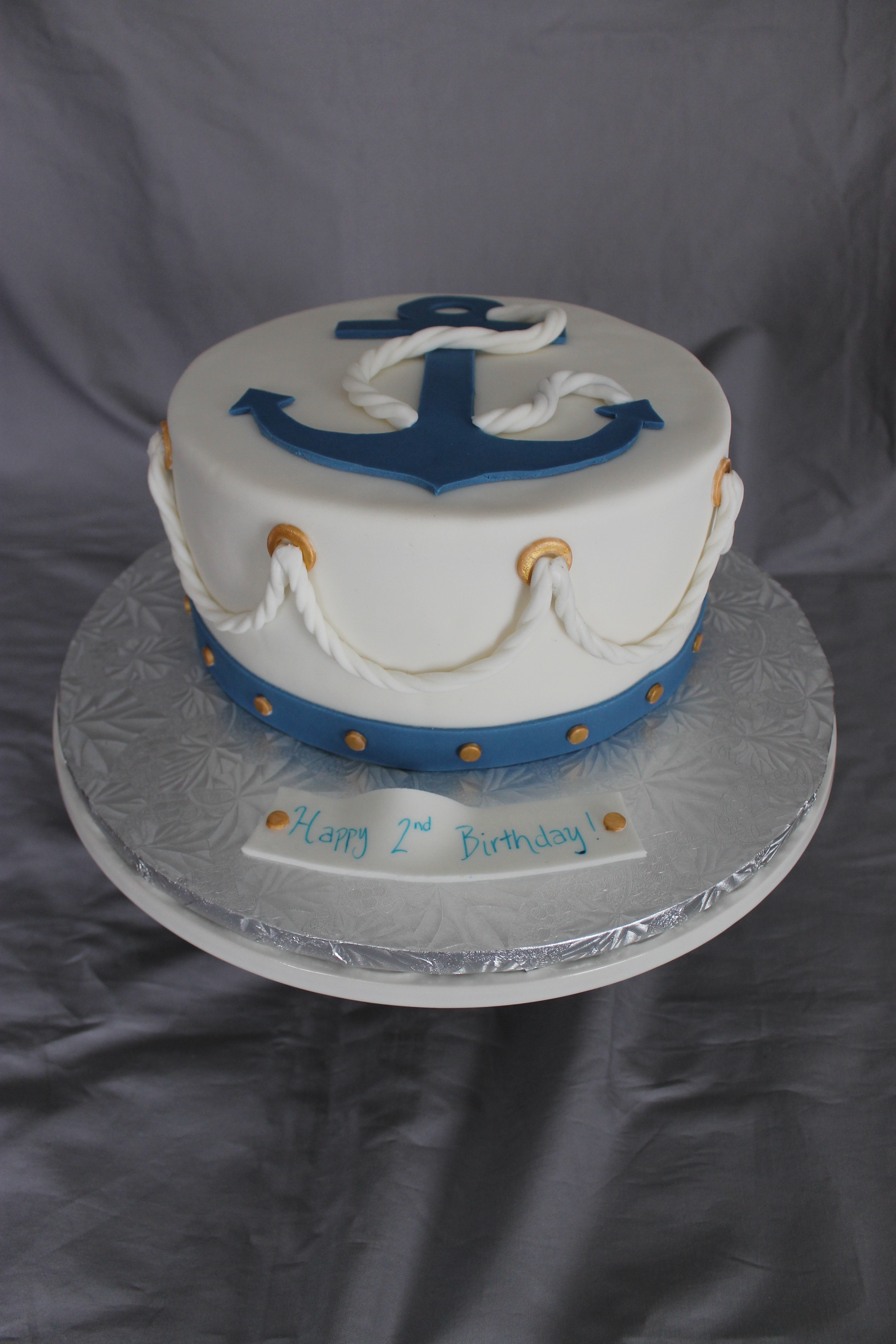 Nautical Themed Birthday Cake - CakeCentral.com