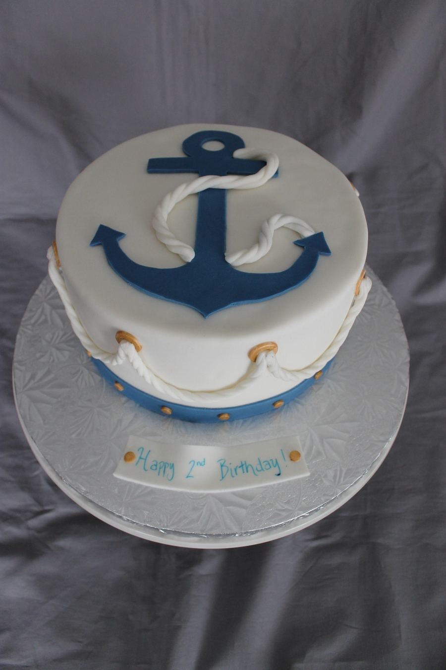 Nautical Themed Birthday Cake Cakecentral Com