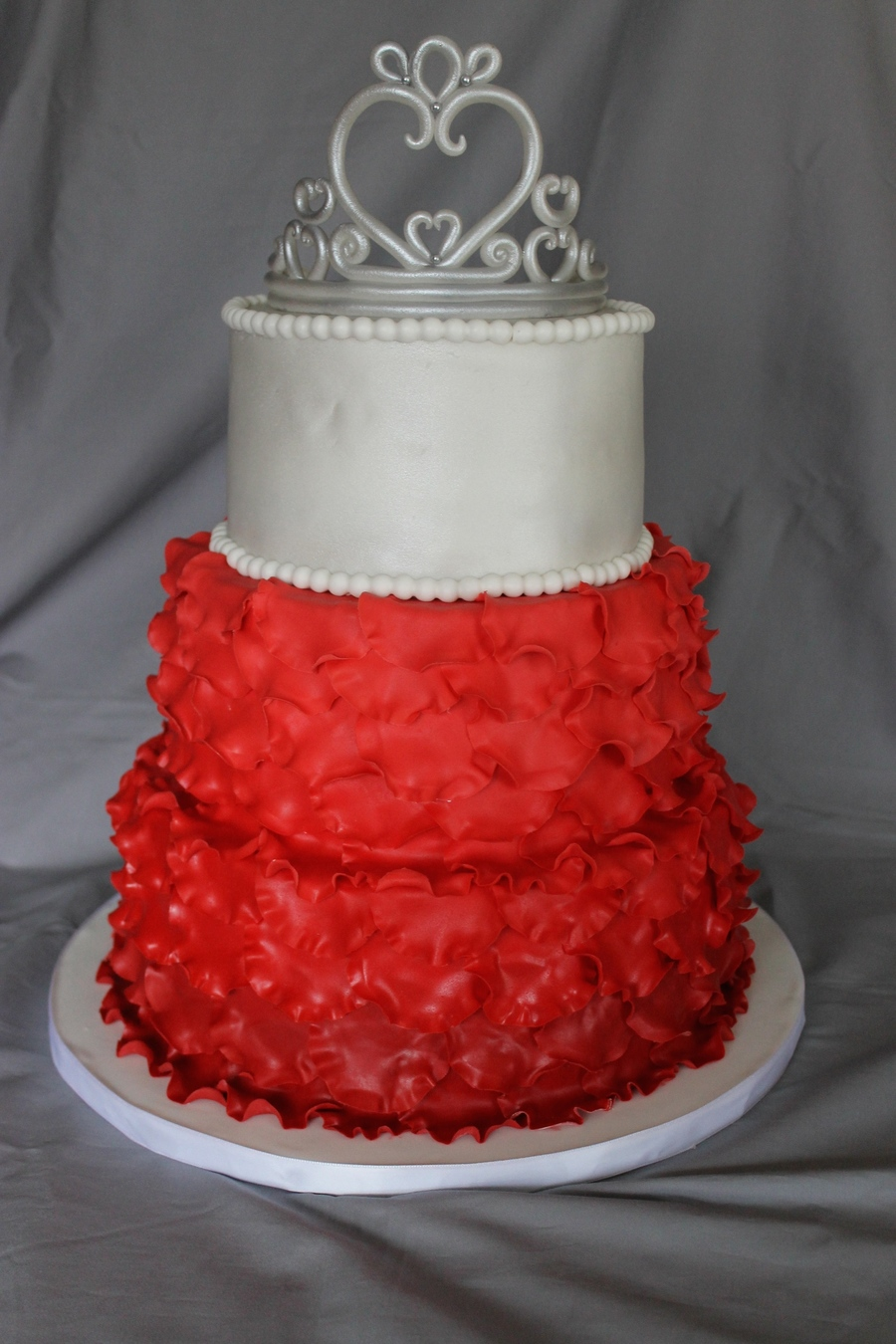 wedding cake with rose petals ombre petal wedding cake cakecentral 26958