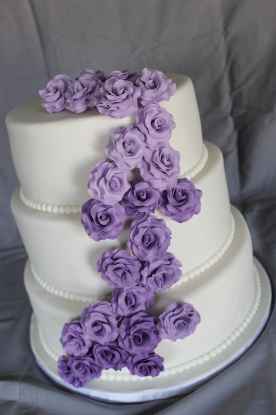 ombre wedding cake purple purple ombre roses wedding cake cakecentral 18009