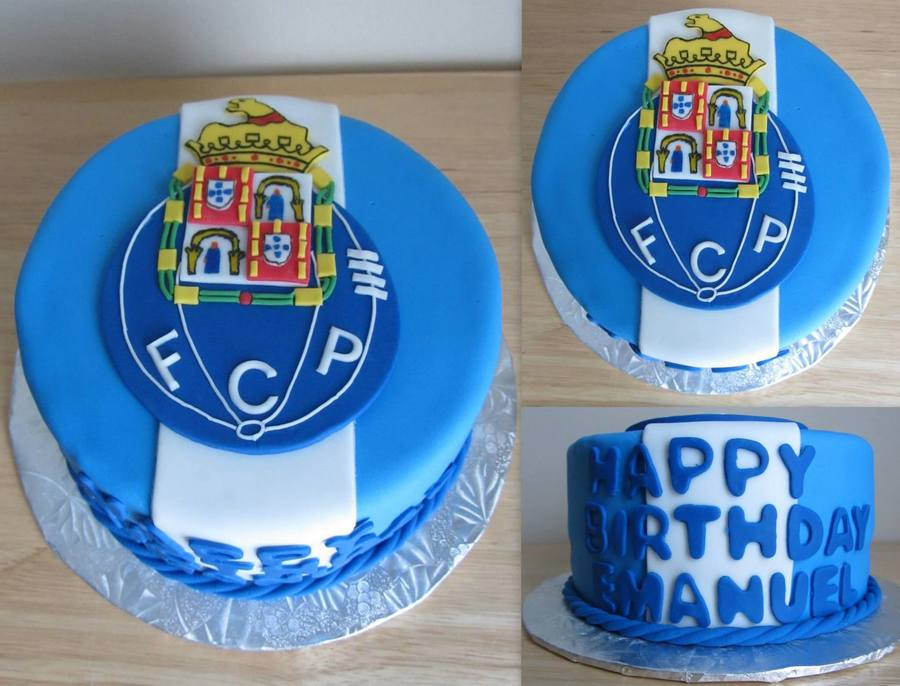 Soccer Themed Birthday Cake Porto Cakecentral