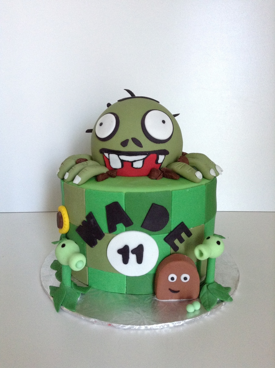 Zombie Themed Cake