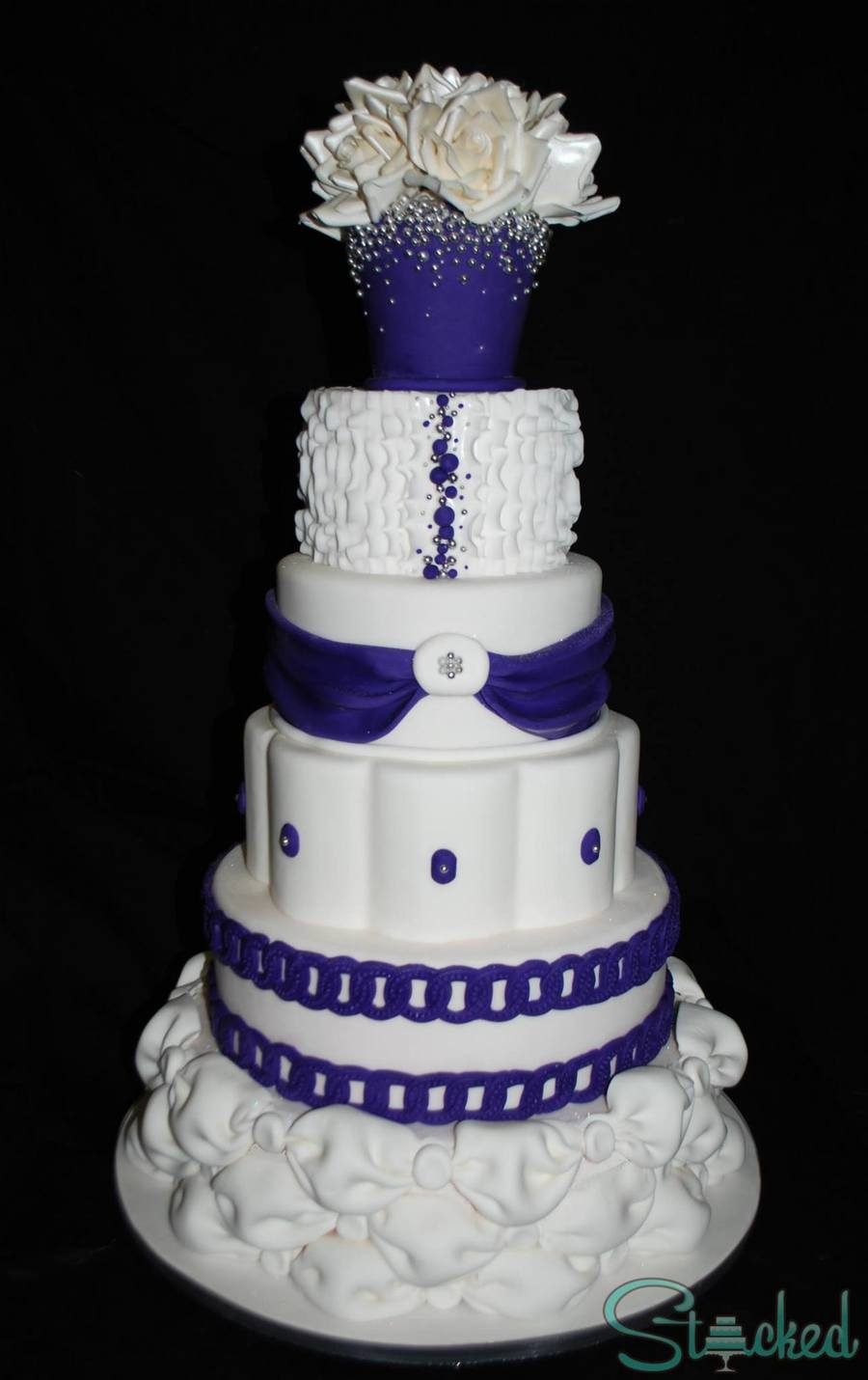 A Grandiose 90th Birthday Cake I Made For My Grandmother White And