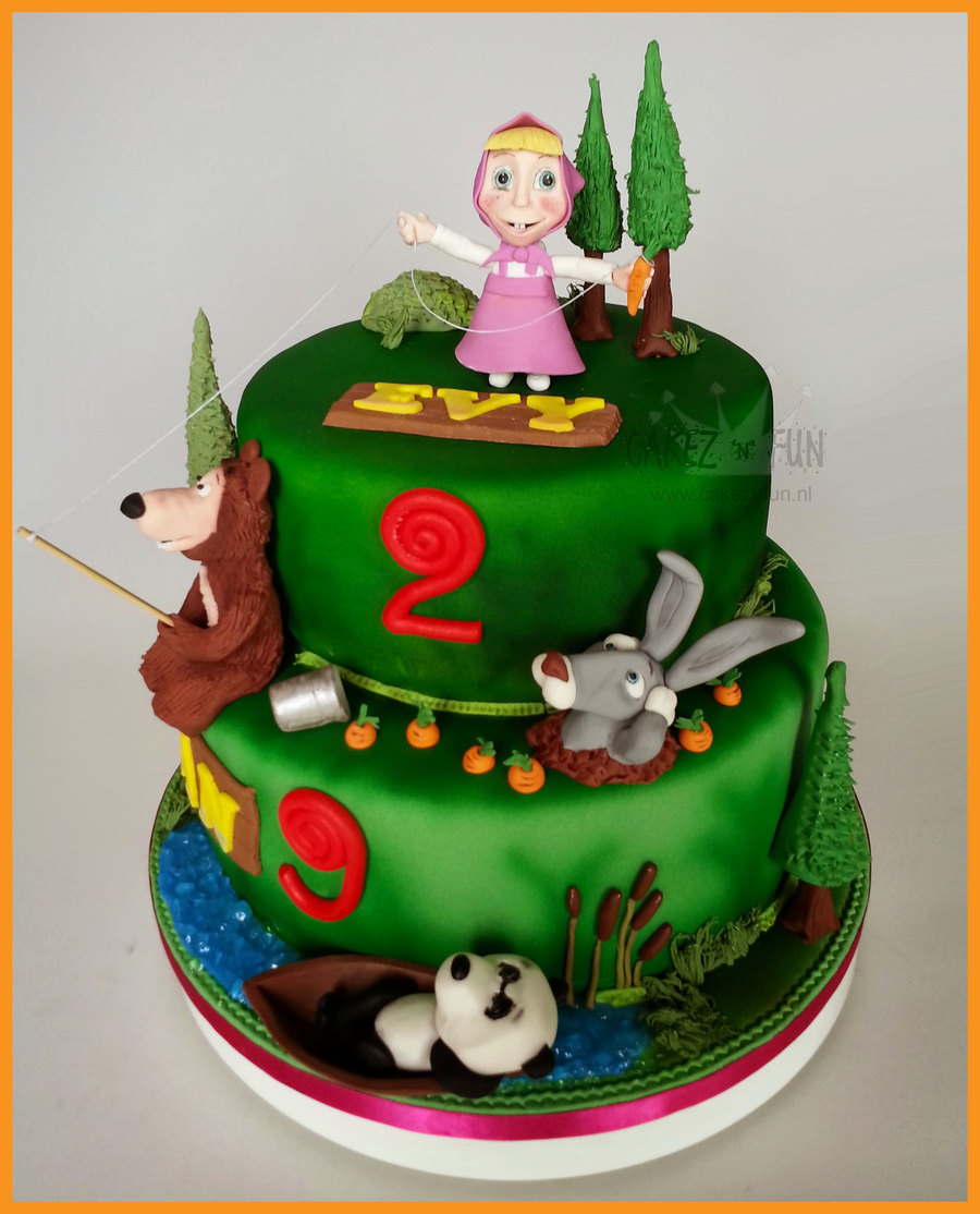 Image Result For Masha And The Bear Birthday Cake