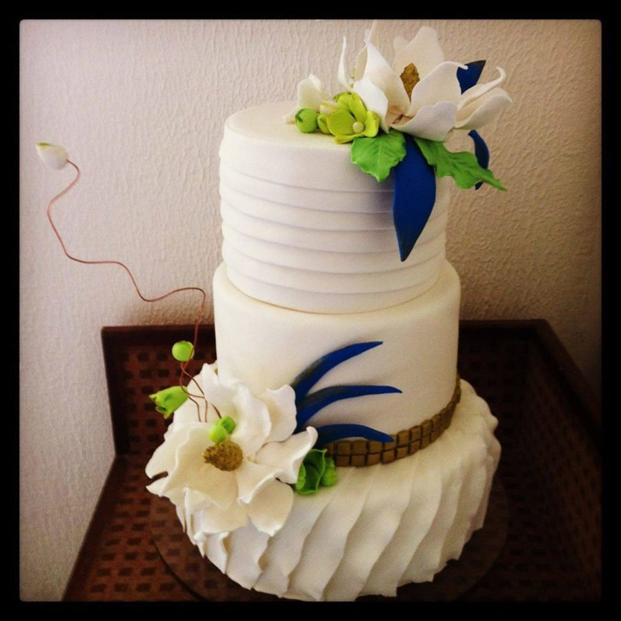 lime green and orange wedding cakes lime green and royal blue wedding cake cakecentral 16898