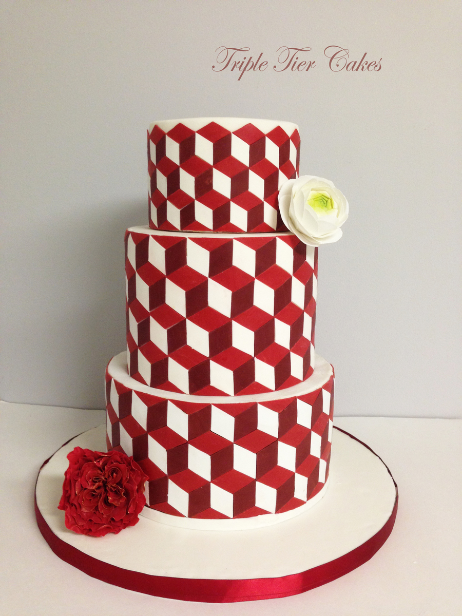 Geometric Pattern Cake Cakecentral Com