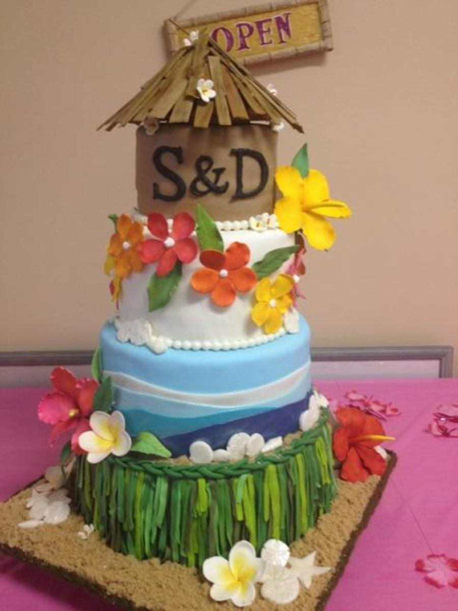 Sam Wedding Cake.Tropical Hawaiian Wedding Cake For Sam Doug Cakecentral Com