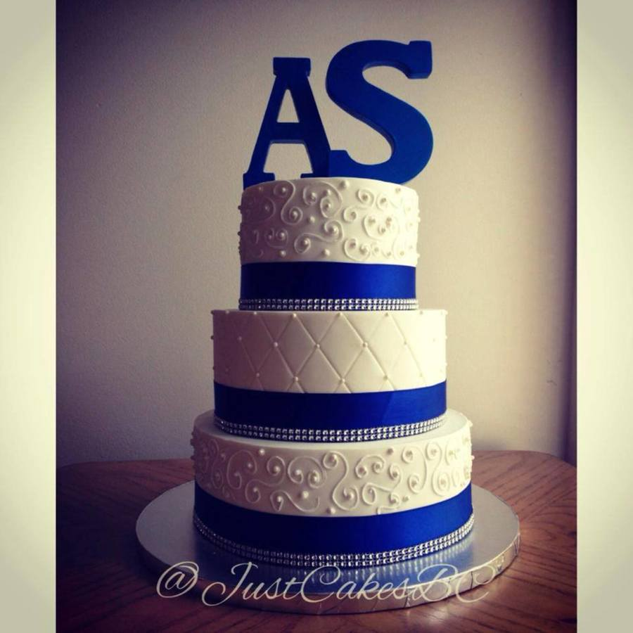 British Royal Wedding Cakes: Royal Blue And Silver Wedding Cake Just Cakes Custom Cake