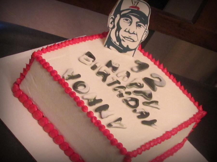 John Sena Birthday Cake Cakecentral