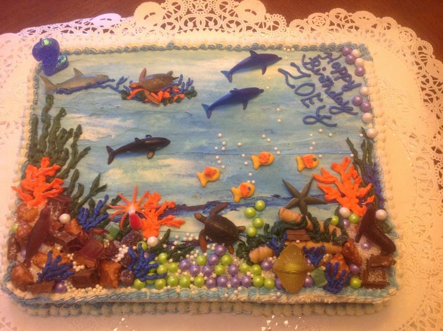 Prime Aquarium Birthday Cake Cakecentral Com Funny Birthday Cards Online Necthendildamsfinfo