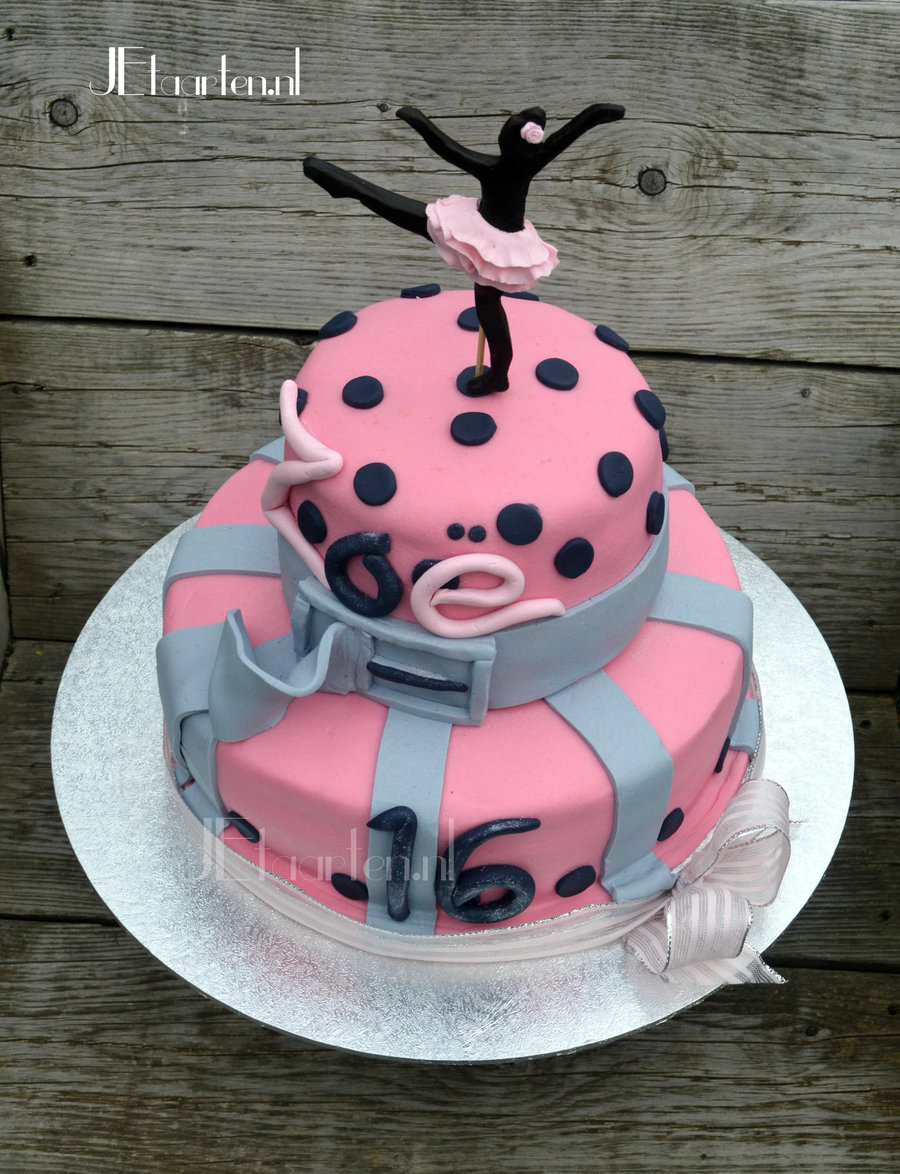 Prime Sweet Pink 16 Birthday Cake For A Dancing Teen Cakecentral Com Personalised Birthday Cards Cominlily Jamesorg