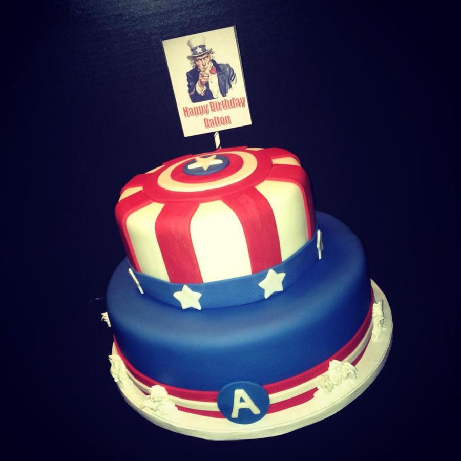 Pleasing Captain America Cake Cakecentral Com Funny Birthday Cards Online Alyptdamsfinfo