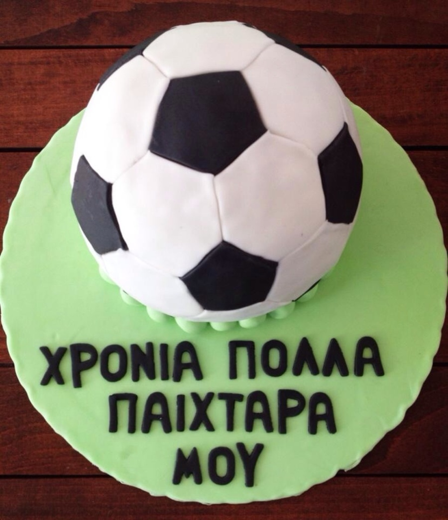 Stupendous Soccer Ball Birthday Cake Cakecentral Com Funny Birthday Cards Online Overcheapnameinfo