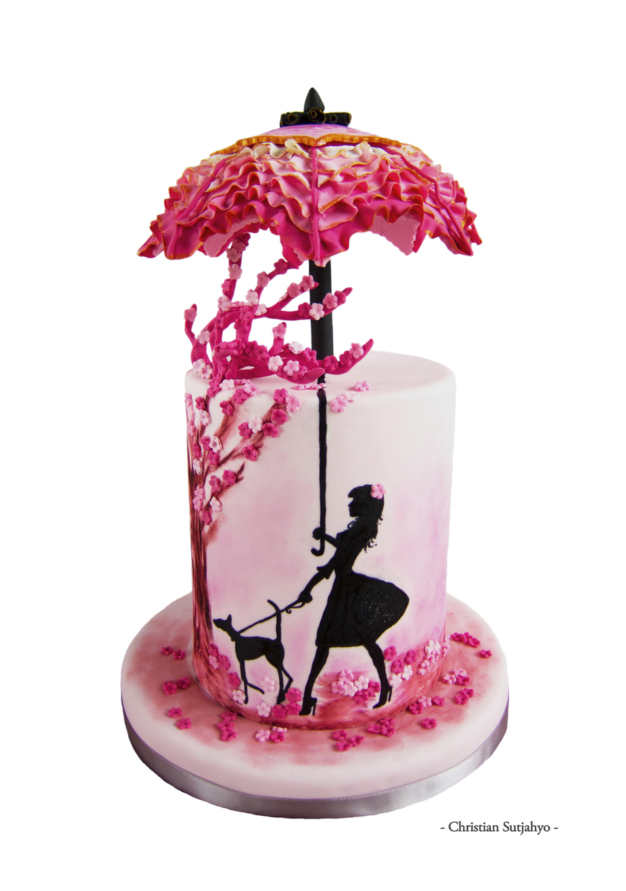 Cake Art Techniques : Inspired By Ruffles And Cherry Blossom Hues This Cake Uses ...