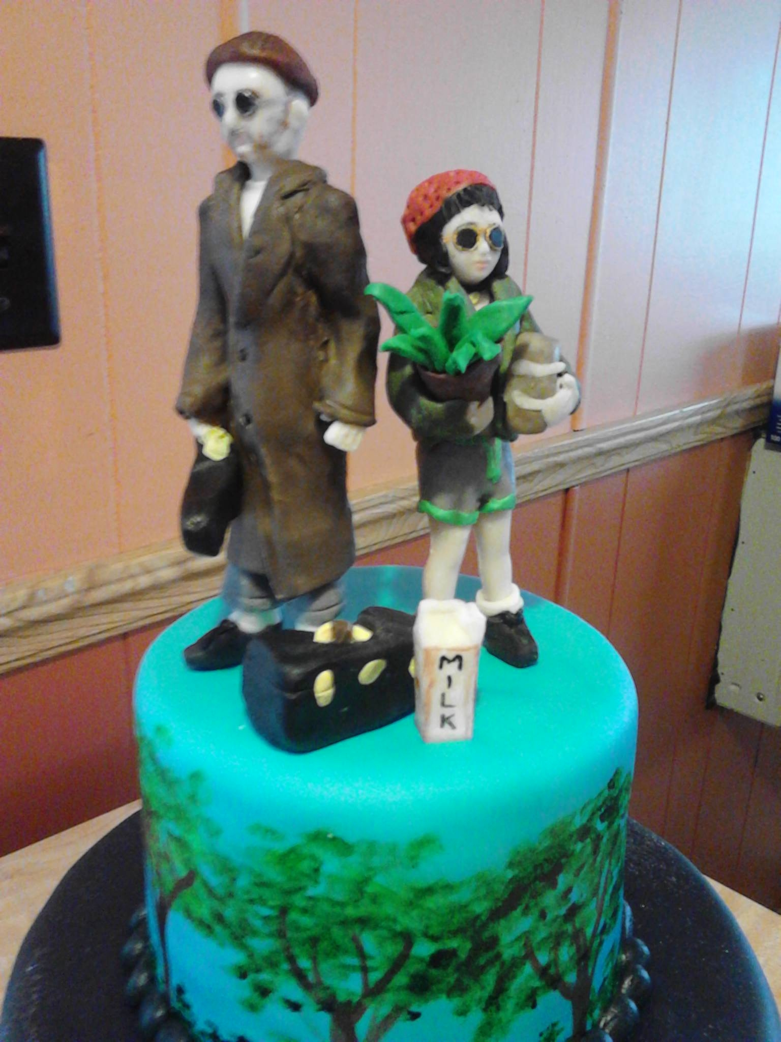 Candy Clay Models Of Leon And Matilda Top A Movie Themed Cake Of The Professional