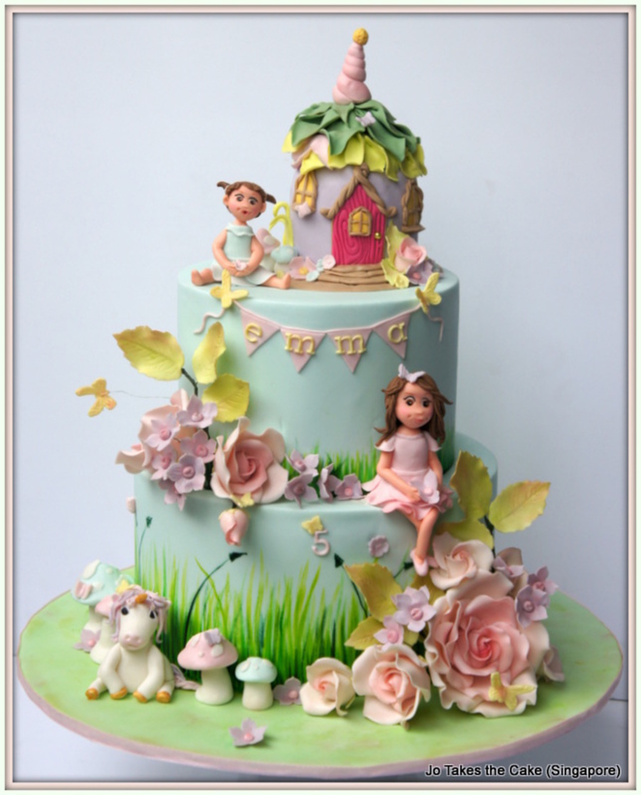Fairy Garden Cake Birthday Cakes