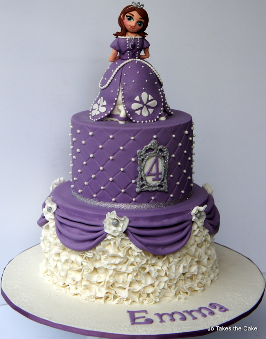 Princess Sofia Themed Birthday Cake CakeCentralcom