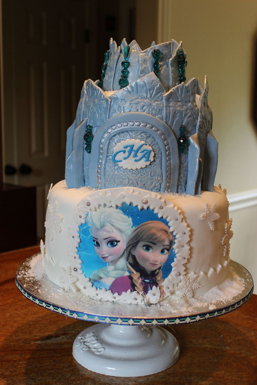 Fun Disney Frozen 2 Tier Cake All Made With Homemade Mm