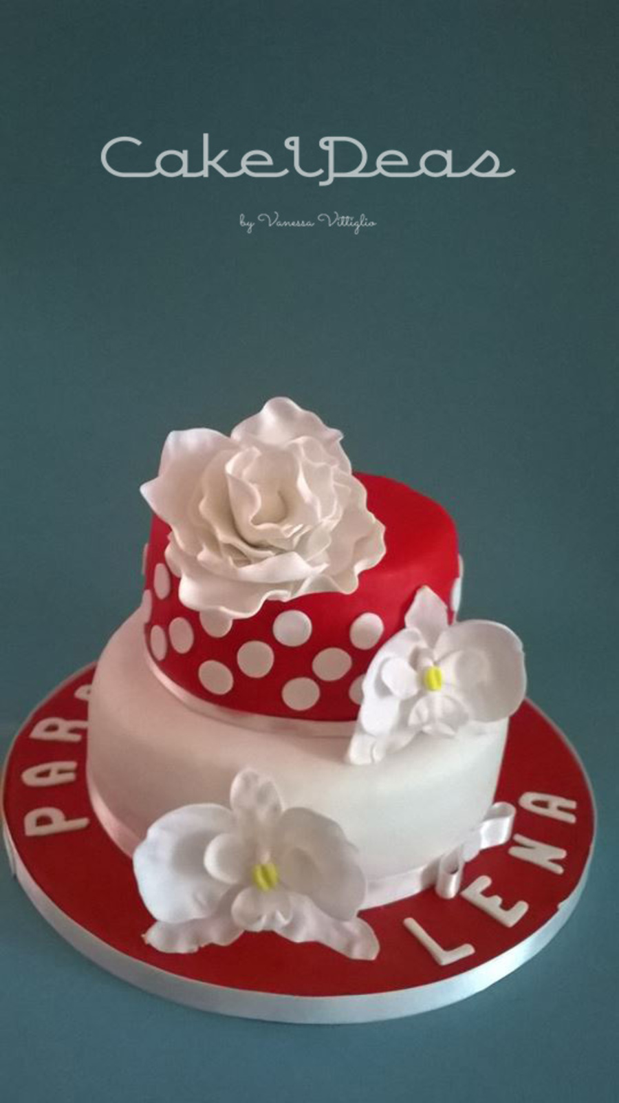 Red Amp White Birthday Cake For My Mom Red Velvet With Smb And Jam