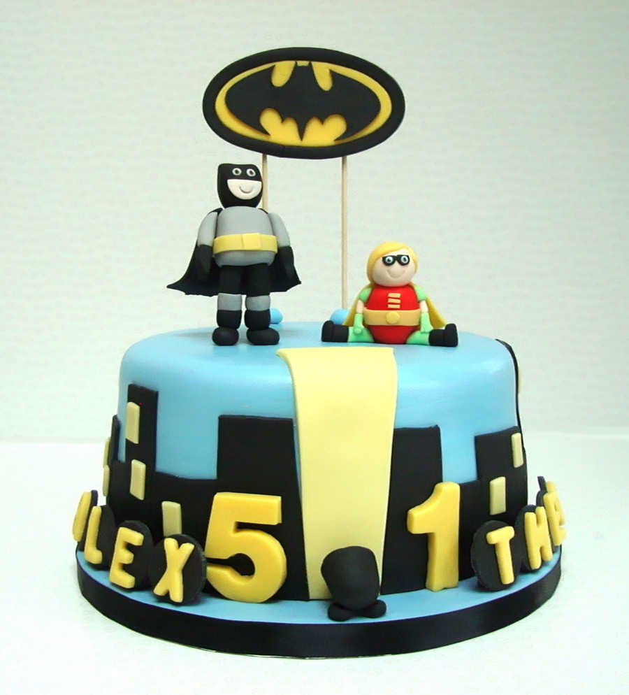 Birthday Cake For Two Brothers Batman Is 5 And Robin Is 1 My Choc