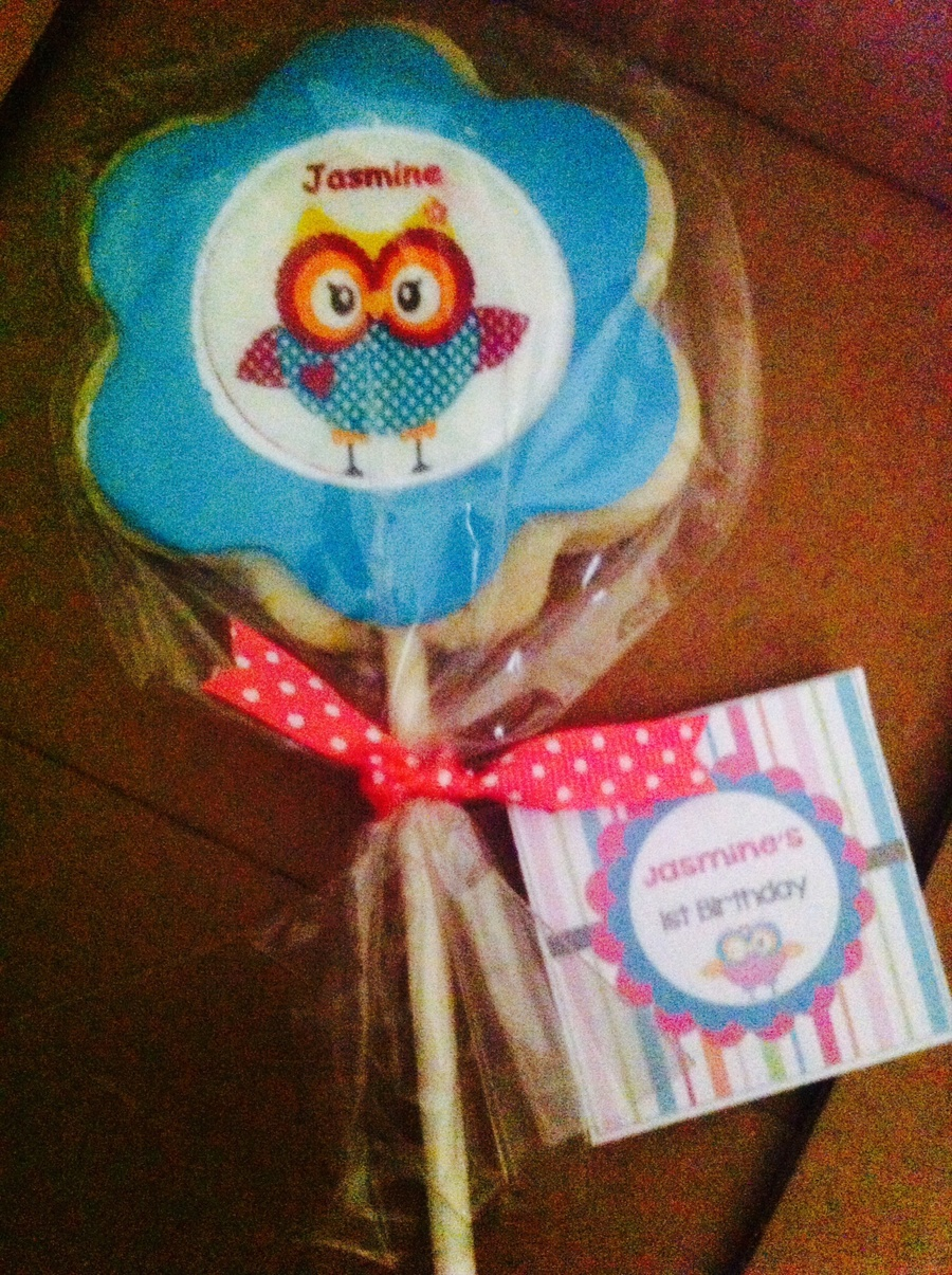 Cute Owl Custom Made Cookie Pop This Delicious Sugar Cookies Are