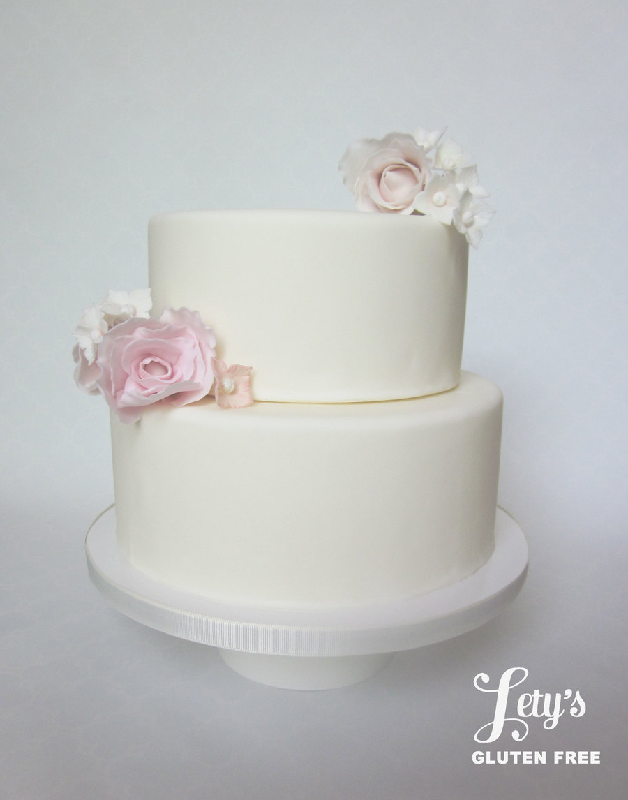 Fondant 8 And 10 Inch Cake With Gum Paste Flowers on Cake Central