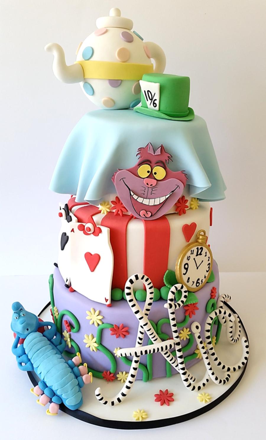 Alice In Wonderland Birthday Cake Decorations