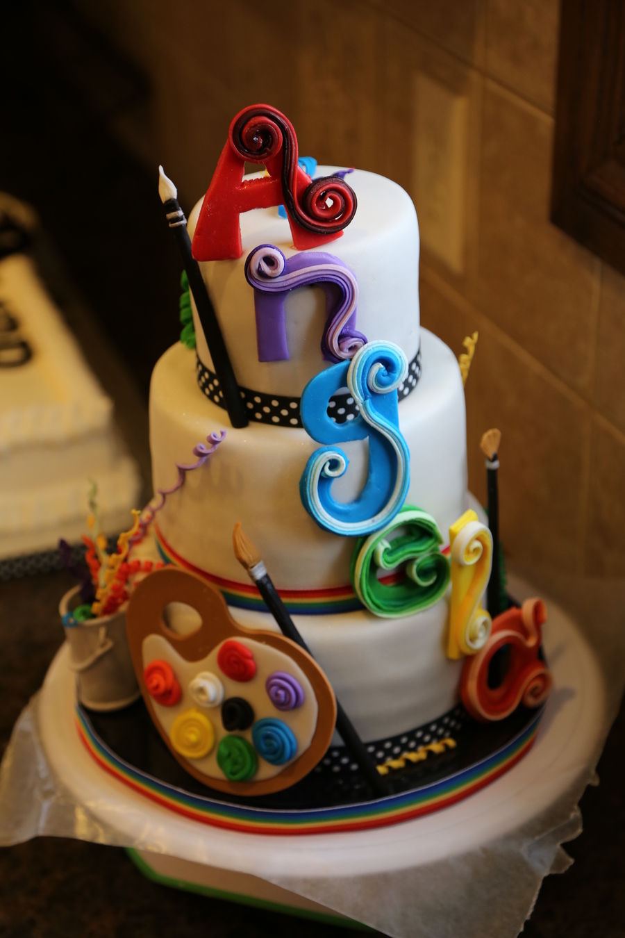 St Birthday Cake For An Artist