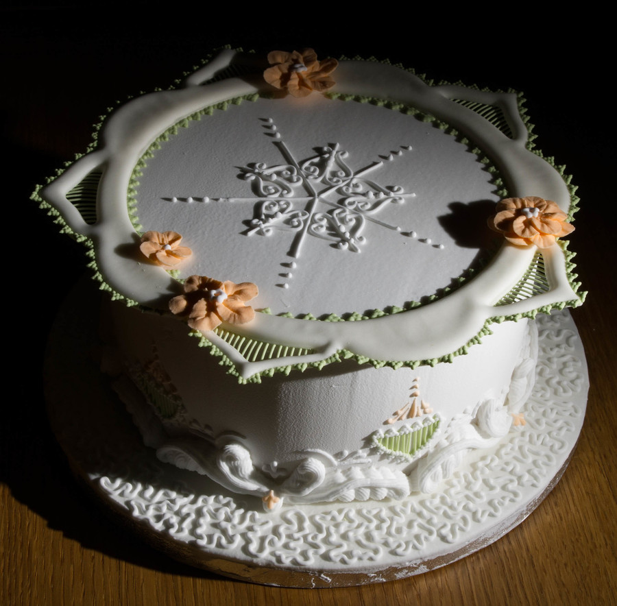 This Is One Of The Two Cakes I Made On The Pme Royal Icing