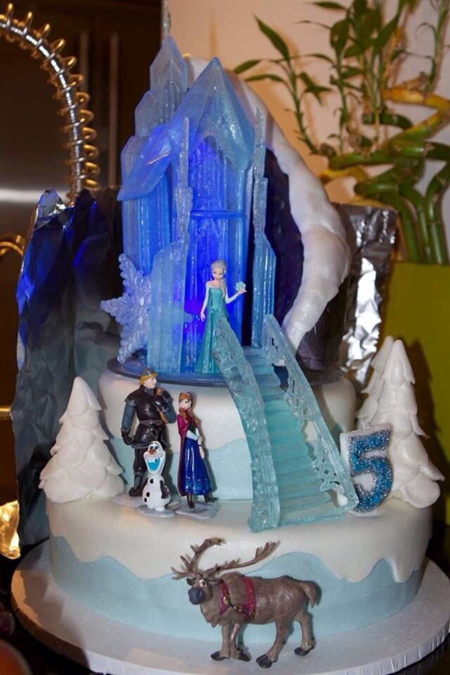 Disney Frozen Themed Birthday Cake Castle And Stares Made From
