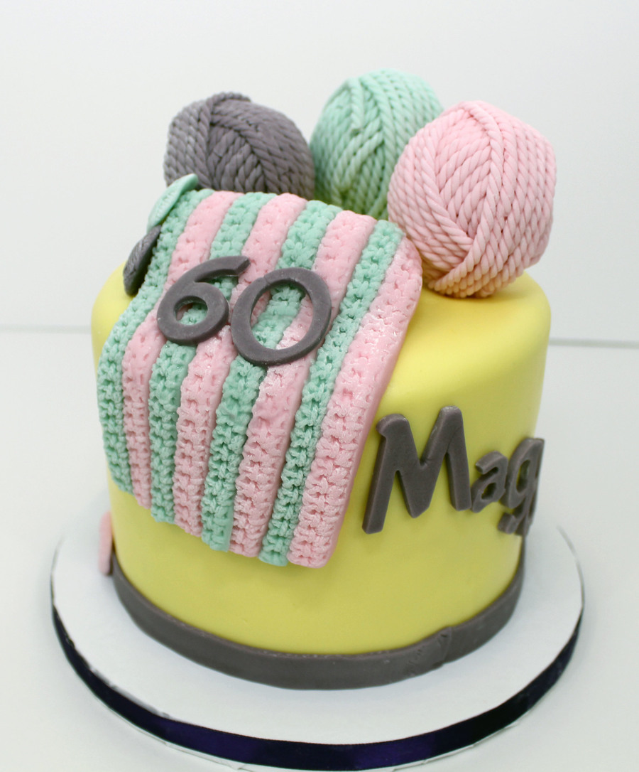 Knitting Cake Designs : Knitting theme birthday cake cakecentral