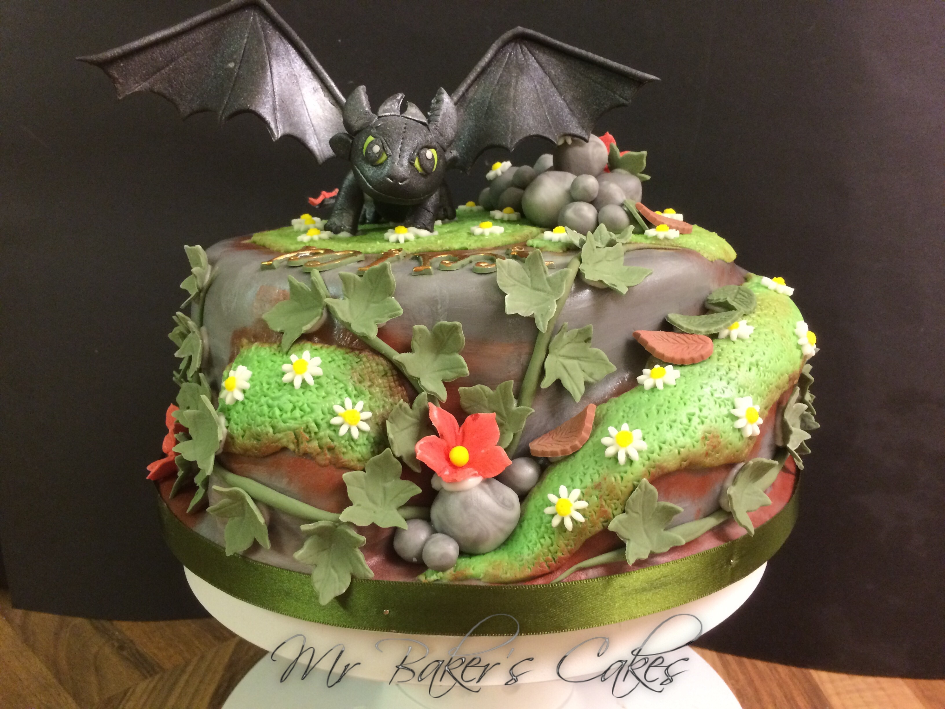 Cake Design Dragon Trainer : Toothless  how To Train Your Dragon Cake . - CakeCentral.com