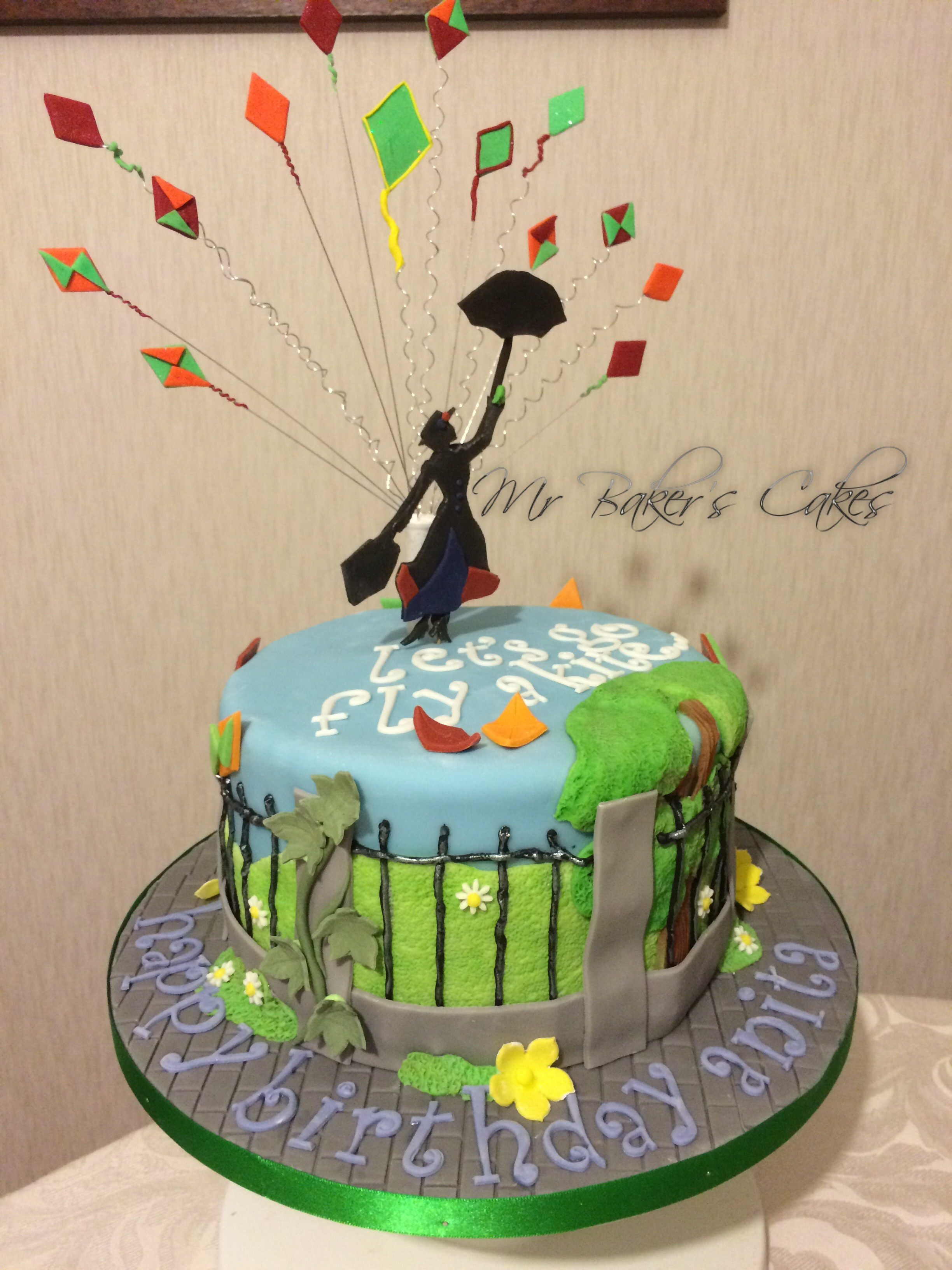 Mary Poppins Let S Go Fly A Kite Cake Cakecentral Com