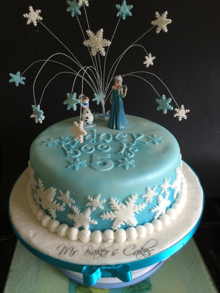 Frozen Cake Design Images : Frozen Cake 2 - CakeCentral.com