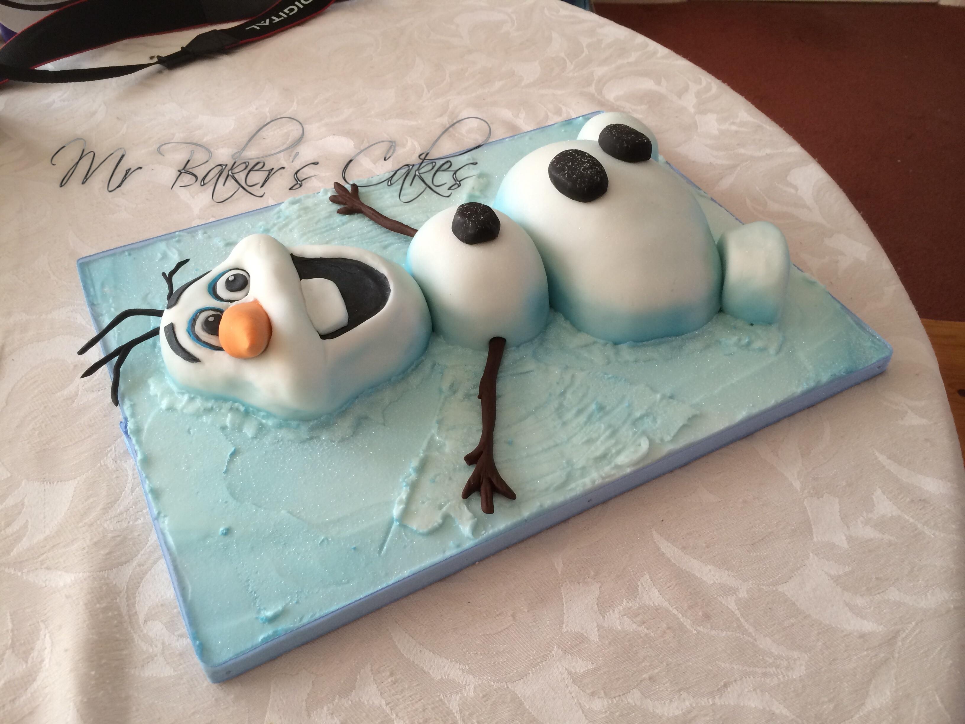 Frozen Olaf Snow Angel Cake Cakecentral Com