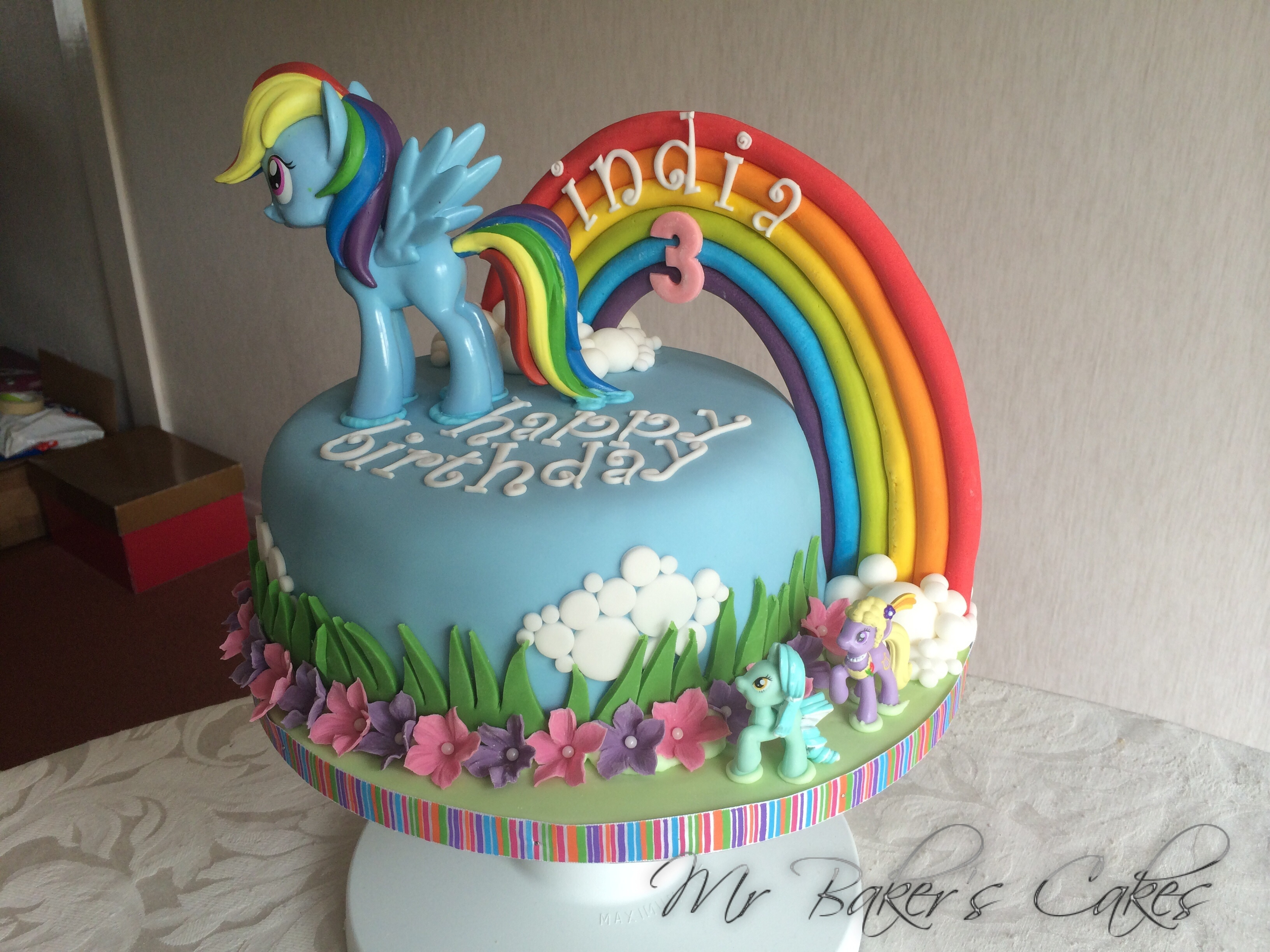 Birthday Cake Ideas Rainbow : My Little Pony - Rainbow Dash Cake - CakeCentral.com