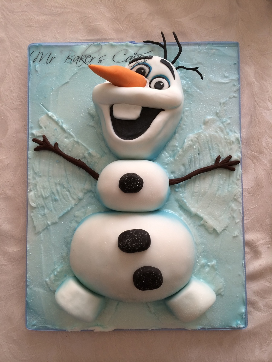 Frozen Olaf Cake Tutorial