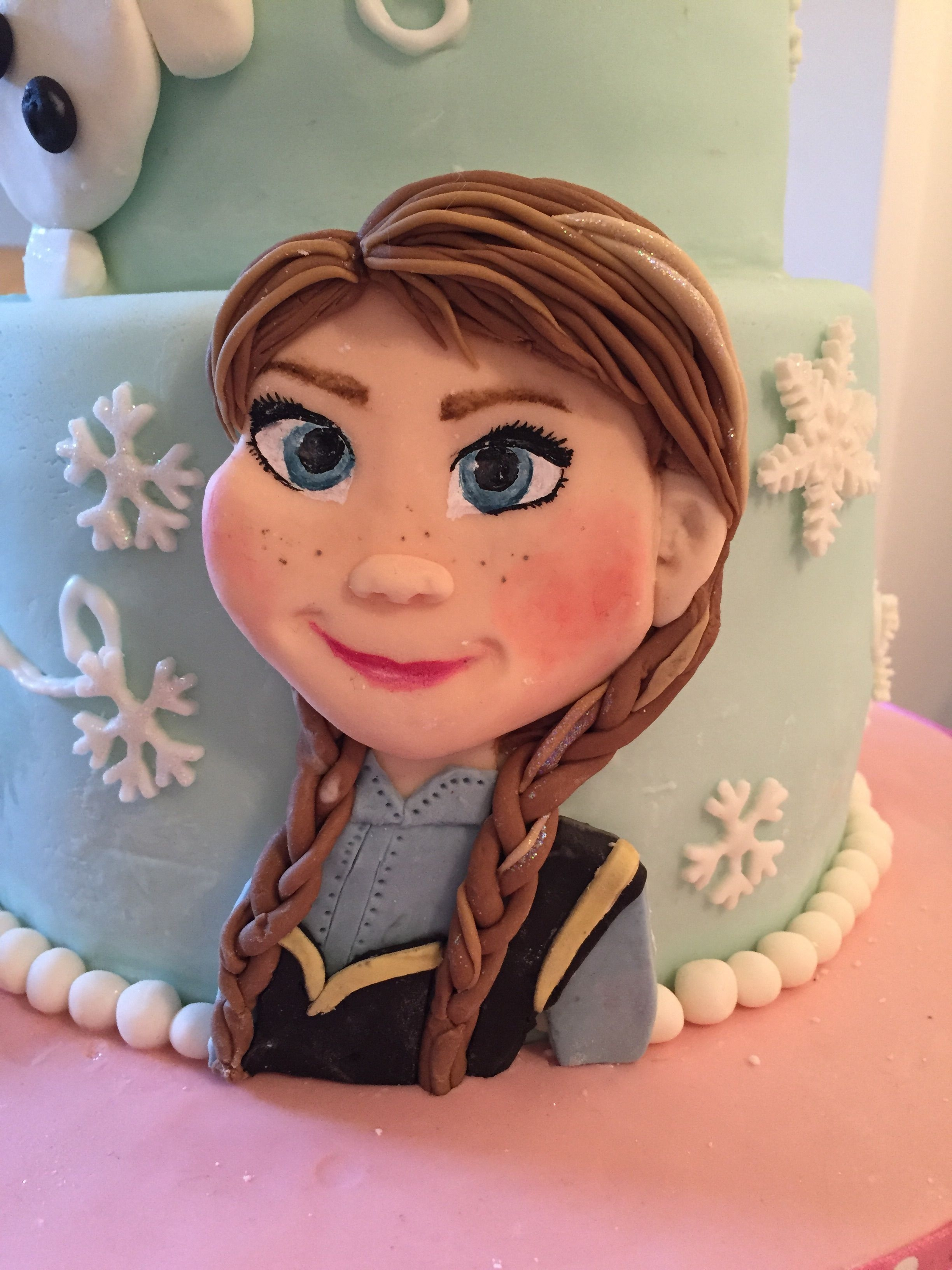 Frozen cake with anna and olaf - Olaf and anna ...