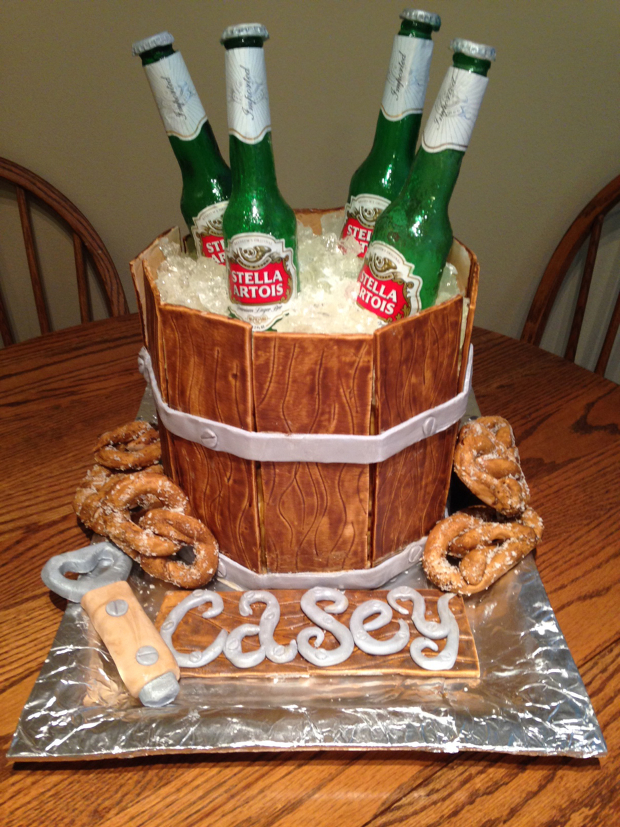 Excellent 21St Birthday Beer Cake Cakecentral Com Funny Birthday Cards Online Overcheapnameinfo