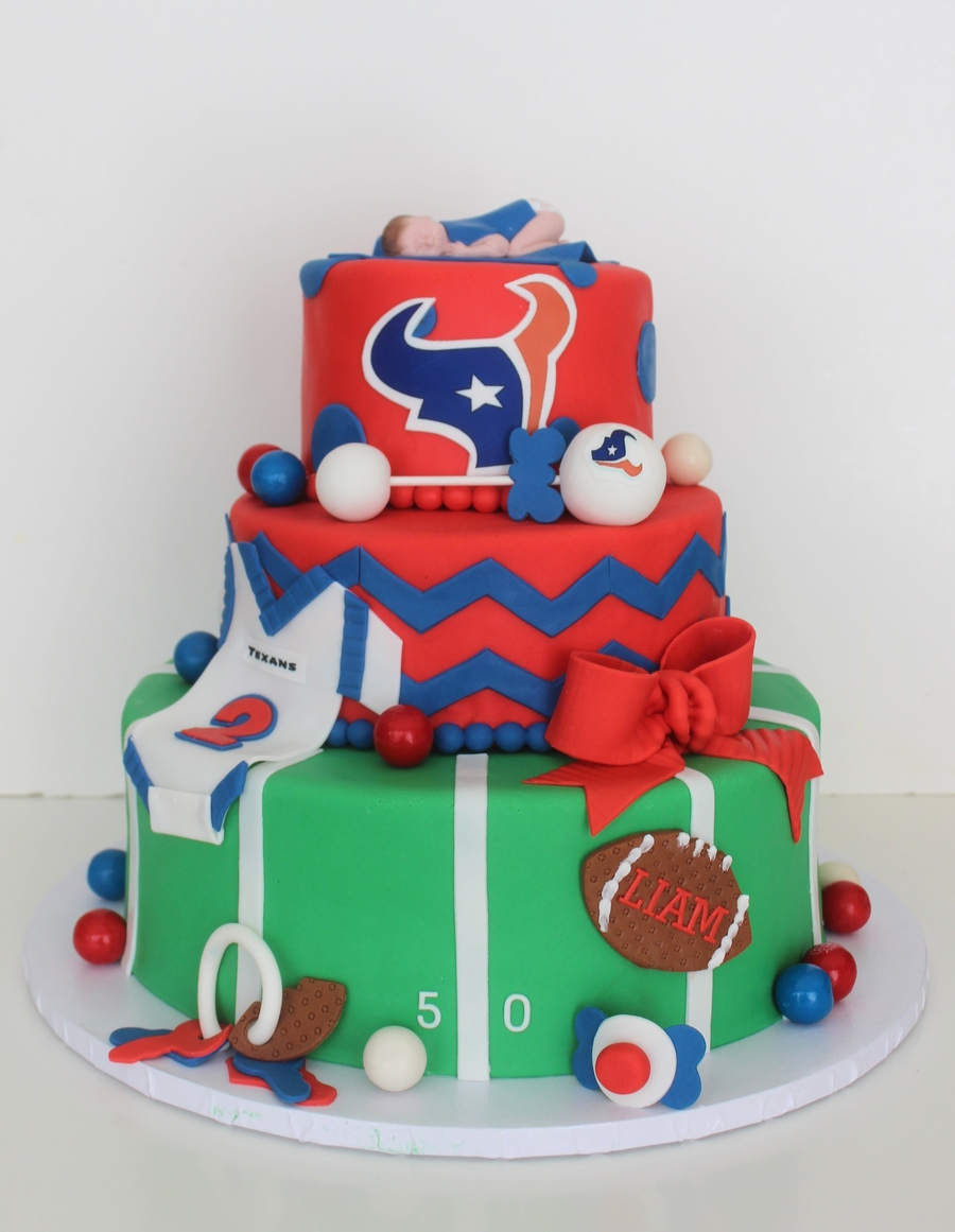 Houston Texans Baby Shower Cake CakeCentralcom