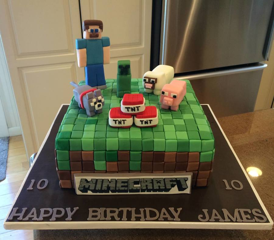 Minecraft Birthday Cake on Cake Central
