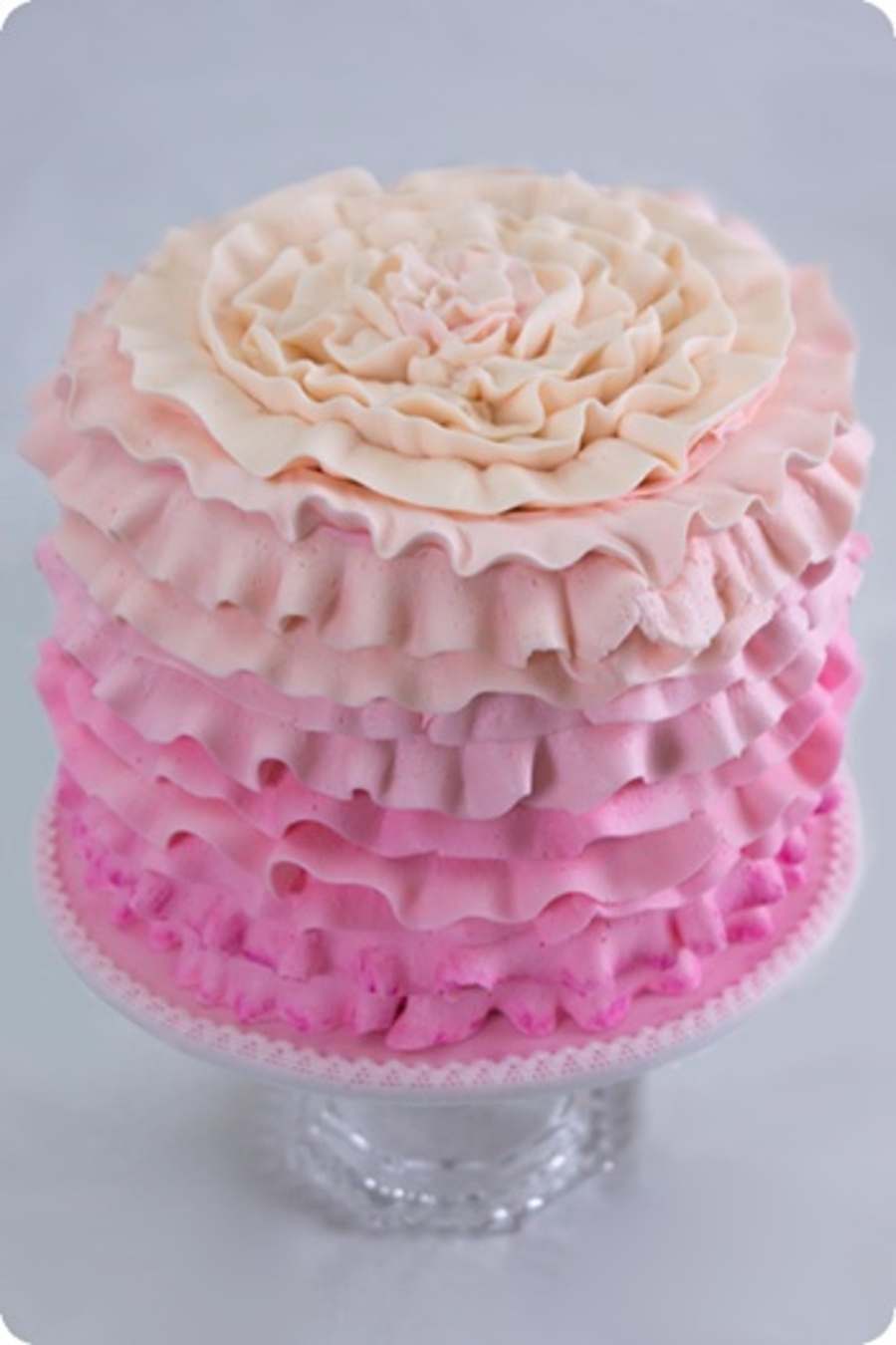 Pink Ombre Ruffle Cake Cakecentral Com
